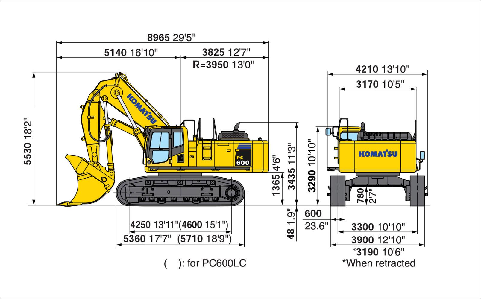 Komatsu PC600-Loading shovel